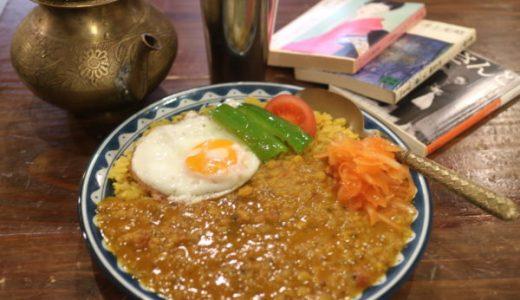 覚王山アパート古本カフェ『アムリタ』異国情緒あふれる店内でカレーとチャイをいただきました