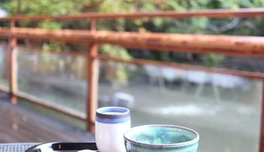 【閉店】熱田神宮のお休み処『清め茶屋』テラス席で紅葉を愛でながら「きよめ餅とお抹茶」を楽しもう