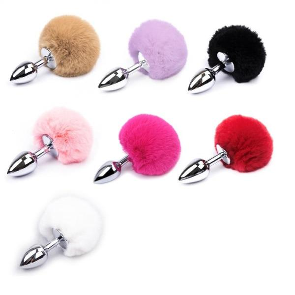 Stainless Steel Bunny Tail Plug