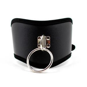 Black PU Leather Posture Neck Collar Bondage Restraint  Belt Slave Fetish Bondage Neck Strap Harness Sex Toys For Couples