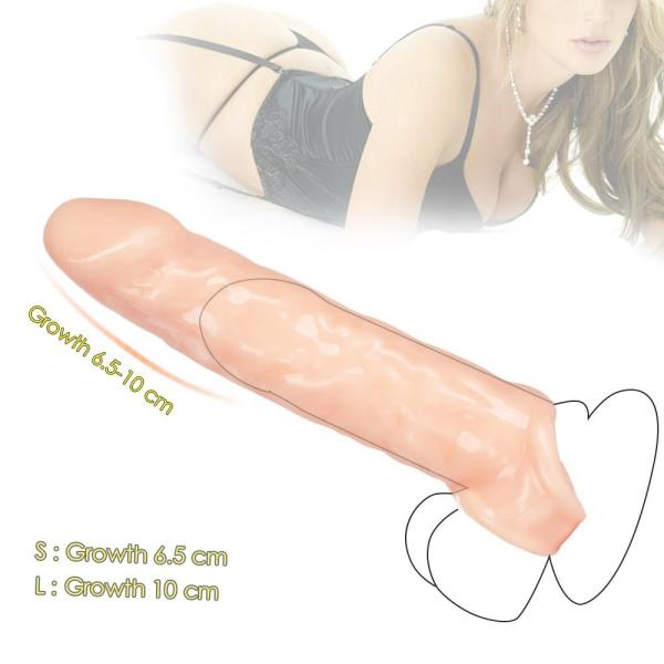 4MB Penis Extender Sex Toys For Men Reusable Condom Dick Sleeve
