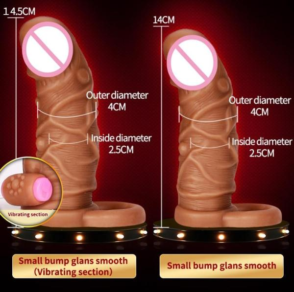 4MB Dildo Extender Penis Enlargement Reusable Condoms