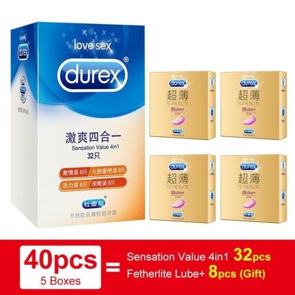4BM Durex Condom 4 Types Ultra Thin Cock Condom