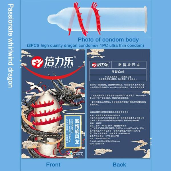 4MB 8PCs Mustache Condoms Long Tentacles Stimulation Penis Cock Sleeve