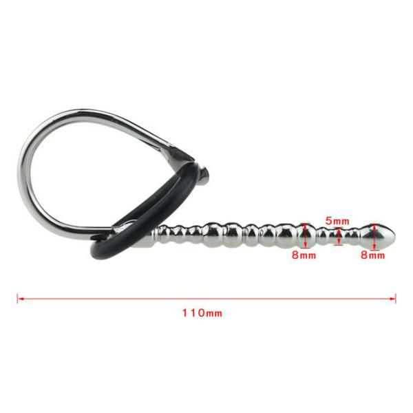 JP - 110mm Steel Penis Vibrator Plug