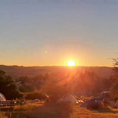zonsopgang heuvel
