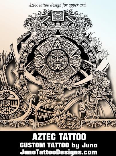 Calendar Design God : Aztec tattoos templates calendar tattoo get yours