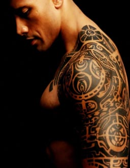 dwayne johnson the rock tattoo