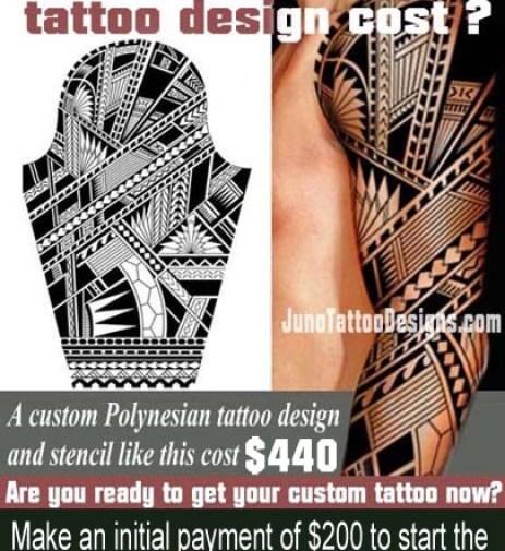 how does much a tattoo cost, polynesian samoan arm tattoo, juno tattoo design