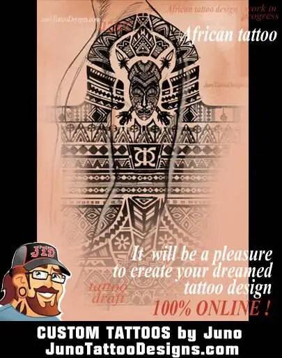 african tattoo, tattoo design, Juno Tattoo Designs