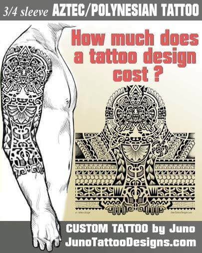 How much does a tattoo design cost, juno tattoo designs