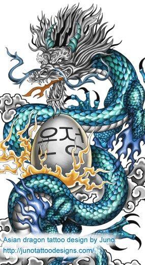 asian dragon tattoo, chinese dragon tattoo, japanese dragon tattoo