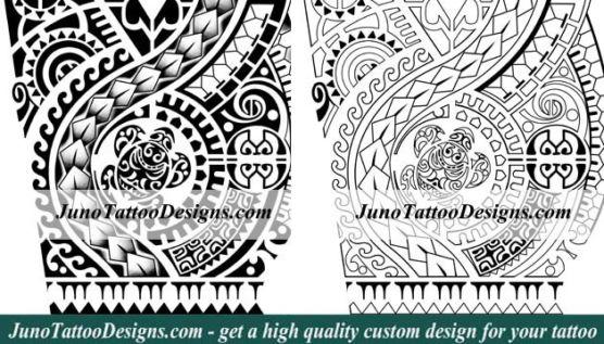 polynesian samoan forearm tattoo, polynesian samoan turtle tattoo, junotattoodesigns