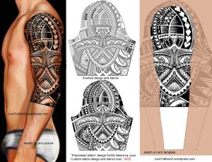 polynesian-tattoo-design-for-sleeve-by-Juno