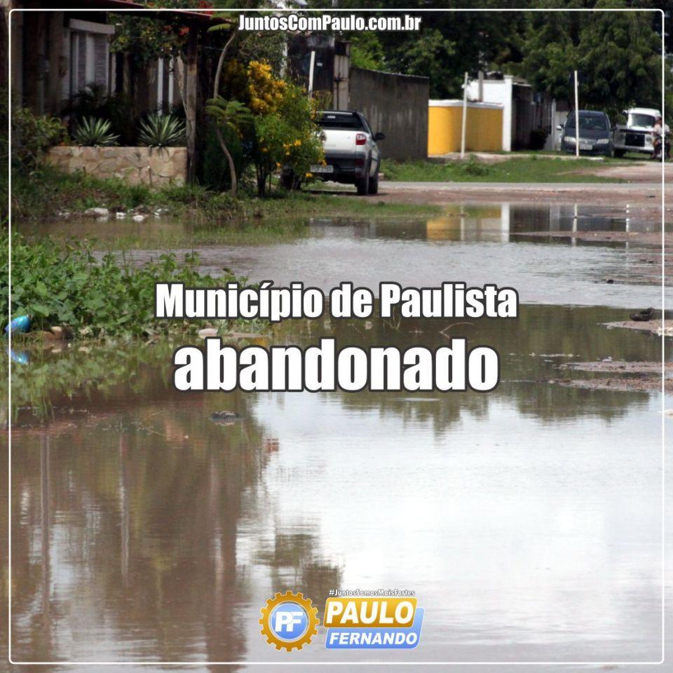 Município de Paulista abandonado