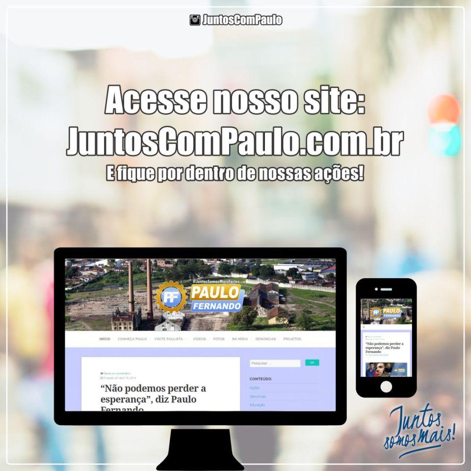 Paulo Fernando sempre conectado com Paulista