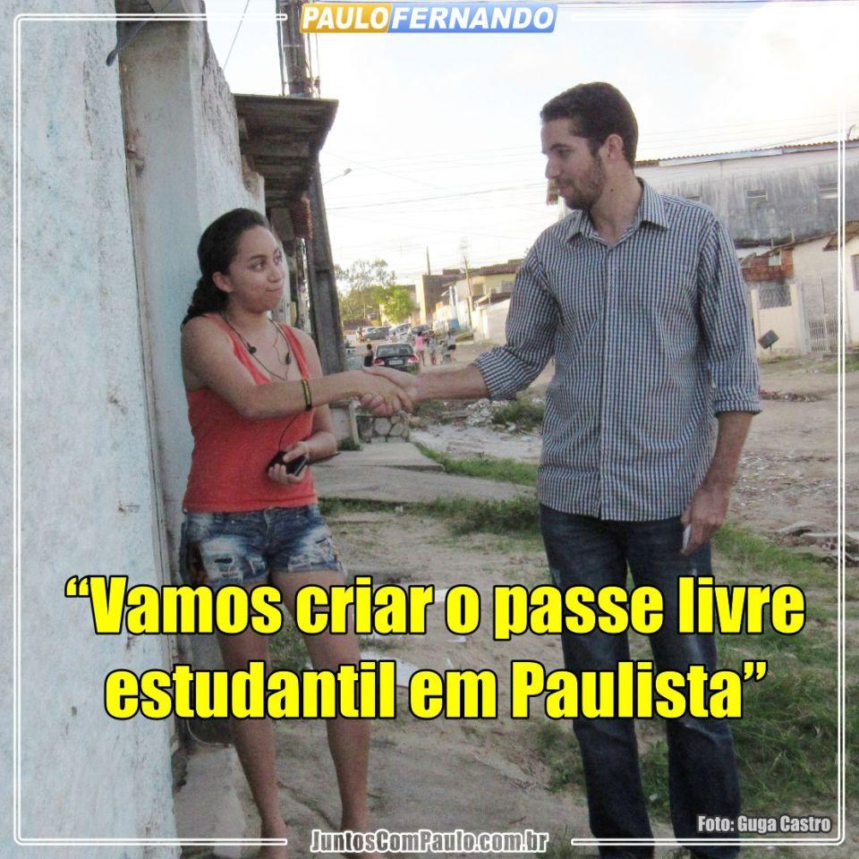 Paulista necessita do Passe Livre Estudantil