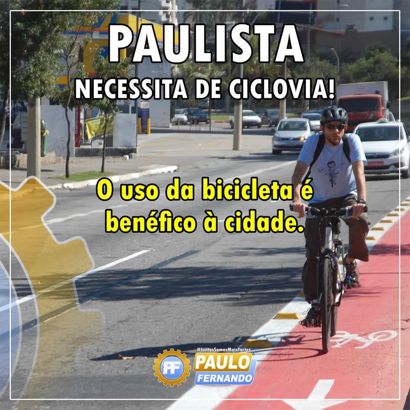 Paulo Fernando diz que Paulista precisa de Ciclovias