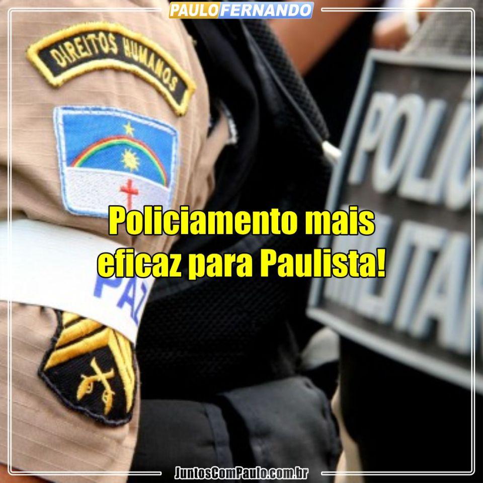 Paulo Fernando na luta por mais policiamento