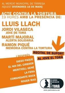 Cartell concert en suport a Jordi Vilaseca