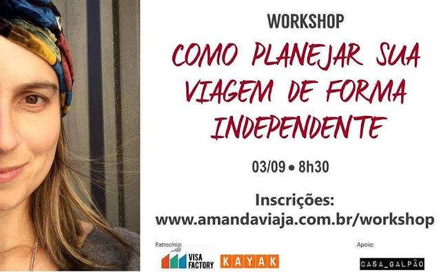 Workshop 'Como viajar de forma independente' com Amanda Noventa