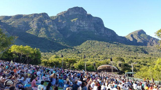 Veja a agenda completa dos shows do Kirstenbosch Summer Sunset Concerts 2017/18 em Cape Town