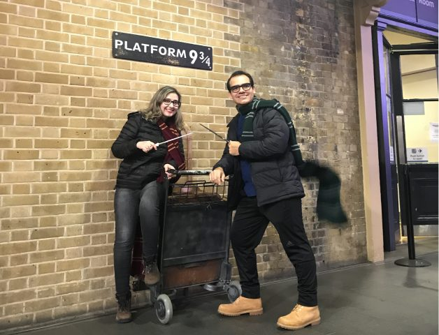 Harry Potter em Londres (Inglaterra): Plataforma 9 3/4 na estação King's Cross!