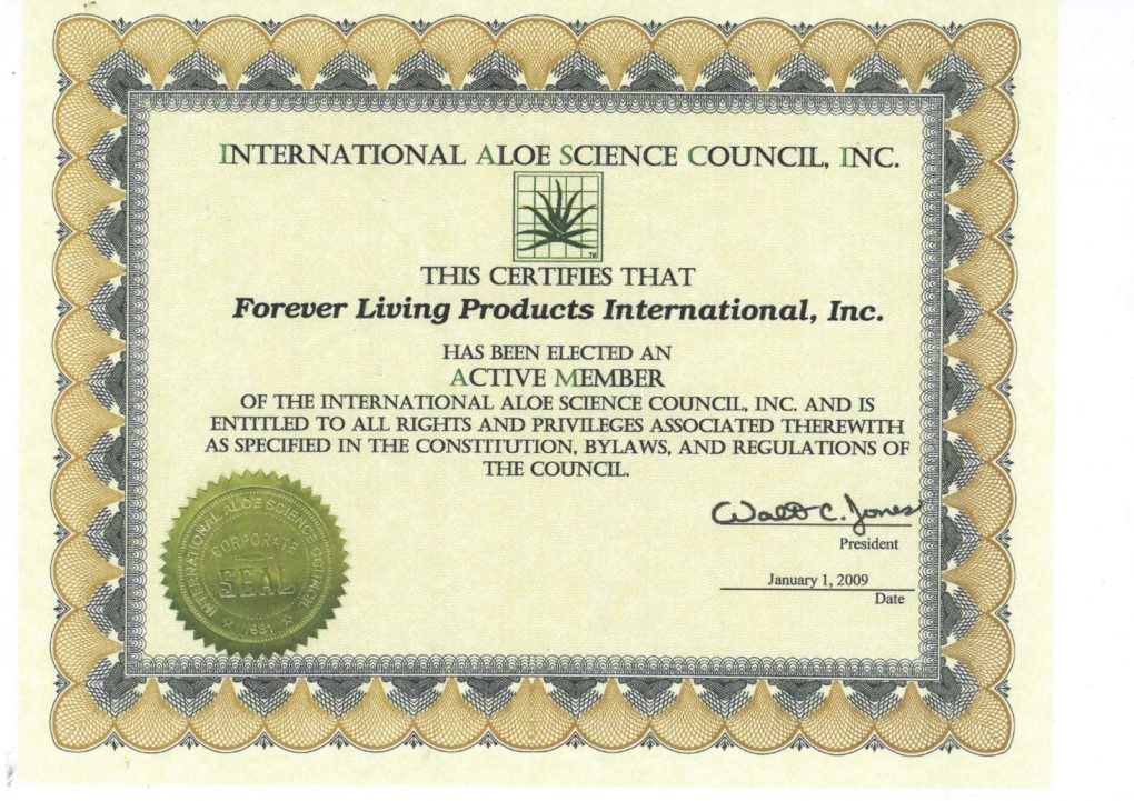 intl aloe science council of forever living product scaled