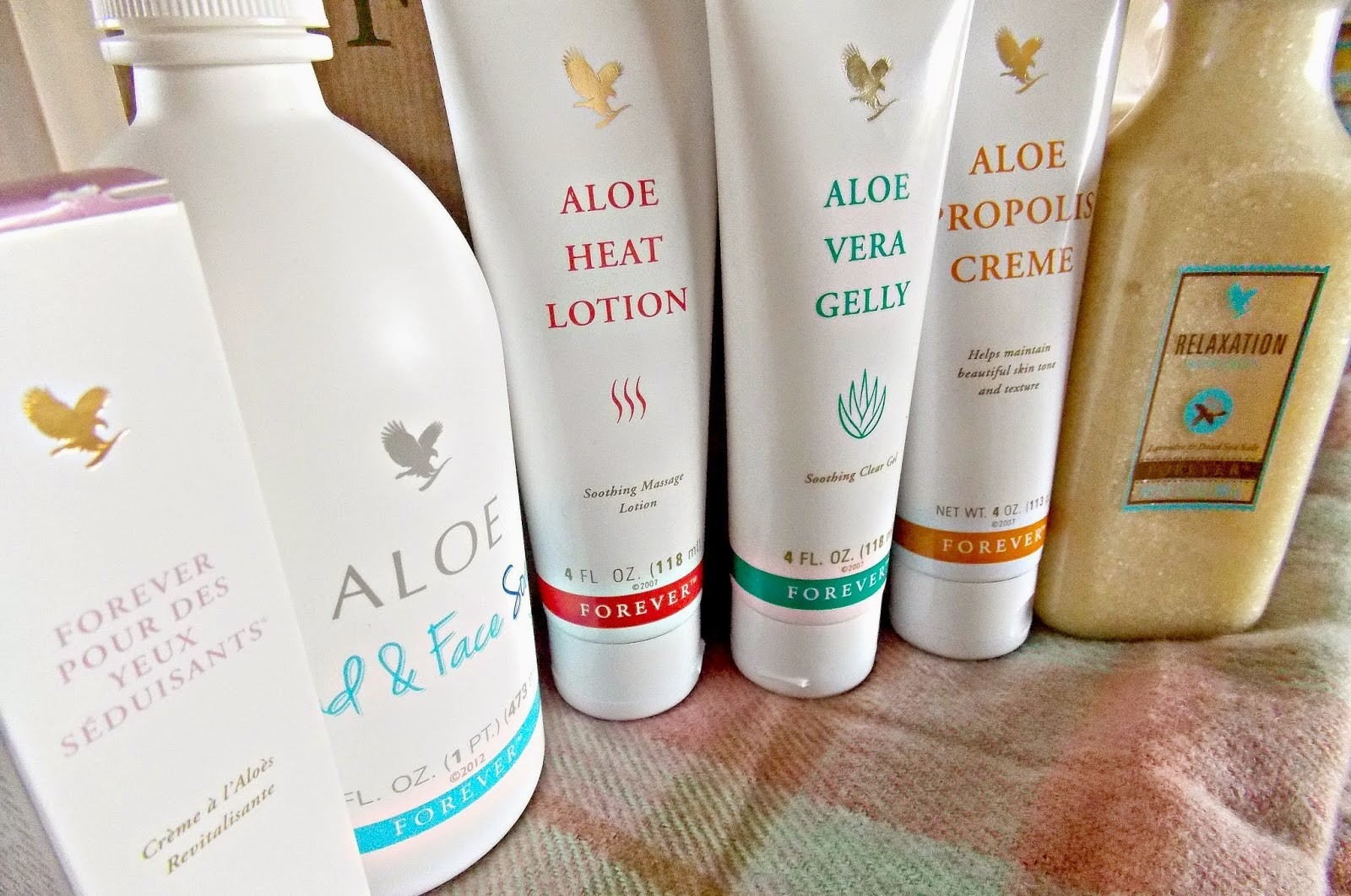 Forever Living | Aloe Gelly, Heat Lotion, Bath Salts and Propolis Creme Product Review