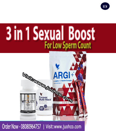 3 in 1 Sexual Booster For Low Sperm Count