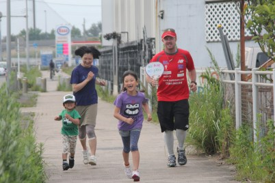 Yasuo family running