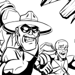 Pencils by Xan Grey, Inks by me, characters property of Nelson Da Rocha