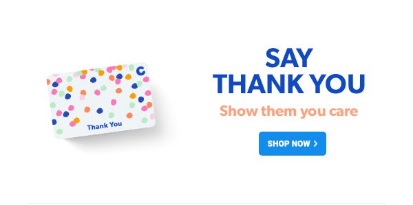 Gift card to say thank you