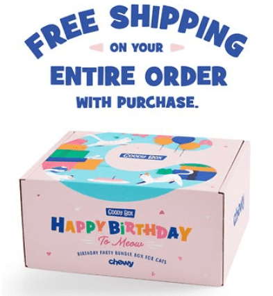 free shipping on entire order with purchase