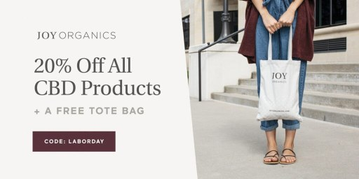 20% Off All CBD Products + A Free Tote Bag