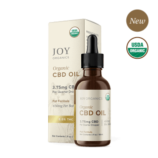 USDA Certified Organic Pet CBD Oil Tincture is made with only two premium ingredients: organic olive oil and organic broad spectrum hemp extract.