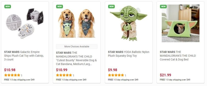 Sample of over 35 Star Wars Toys at The Disney Collection at Chewy