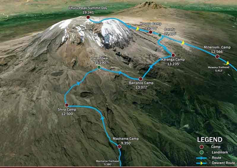 Mount Kilimanjaro - Machame Route