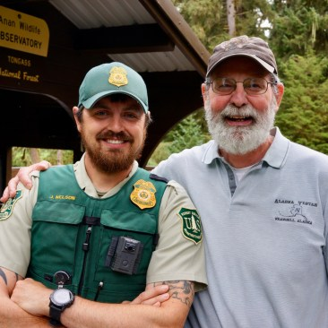 Ranger Danger: Butch was formerly high-school science teacher to every ranger on the trail including Officer Nelson (left)