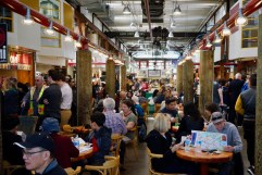 The lunch crowd at Granville Island Public Market