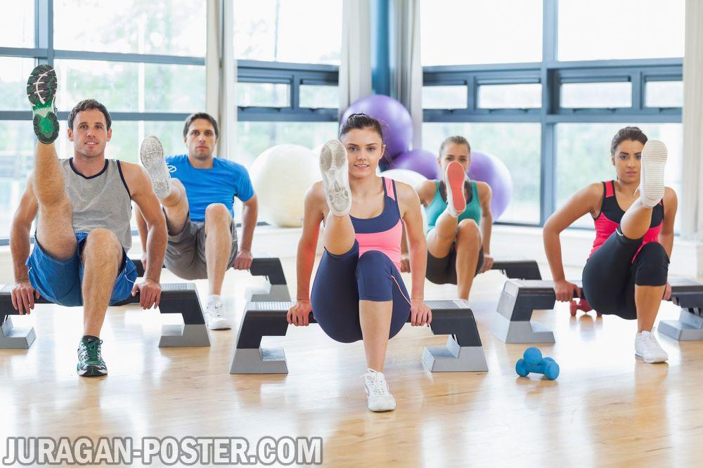 Cartoon People Exercising