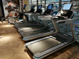 The gym in the SAS domestic lounge in Oslo