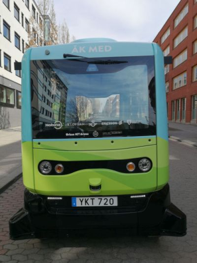 Driverless bus in Stockholm