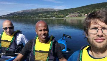 Sarunas, Johannes and me kayaking