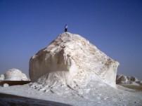 Climbing in the White Desert