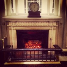 Coal fire at the Travellers Club