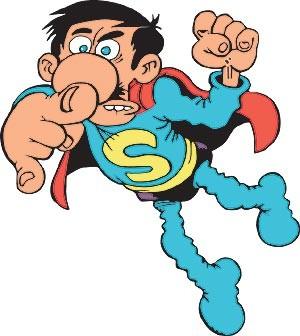 Esos señores que hacen cómics____ _¡AVISEN A SUPERLÓPEZ!_ _¿QUÉ ___