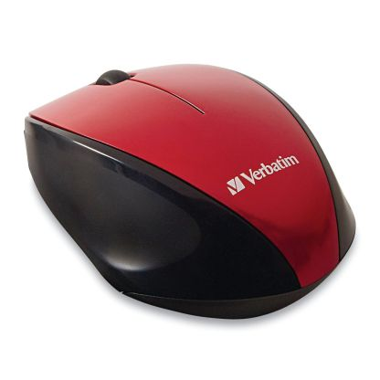 Product image for Verbatim MultiTrac Red Mouse Blue LED