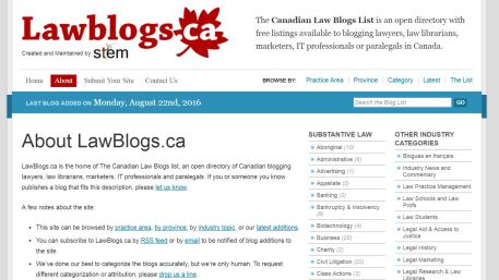 Capture lawblogs