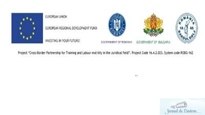 """COMUNICAT DE PRESA referitor la situația implementării proiectului """"Cross-Border Partnership for Training and Labour mobility in the Juridical field"""" 1"""